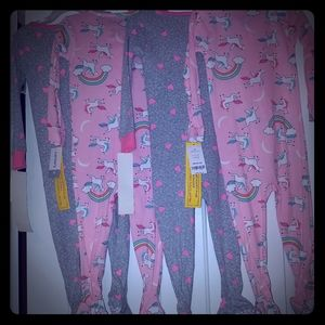 Toddler girl's one piece pajamas